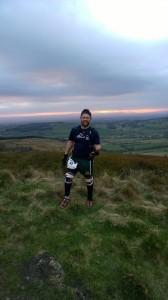 Paul racing on the North York Moors
