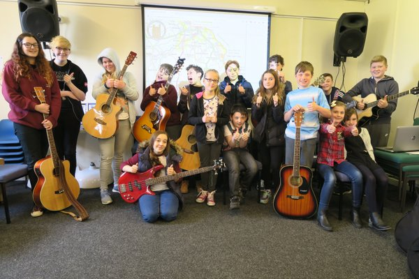BCT Kids supporting at their lesson on Saturday.